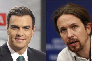 "Pedro Sánchez sacude a Pablo Iglesias: ""Los de Podemos no son tan castos; pagaban en negro"""