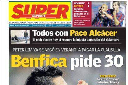 El Benfica da precio al Valencia por Enzo Pérez