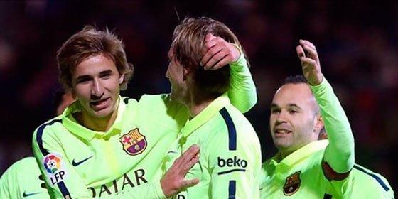 El Barça, liderado por un reaparecido Iniesta, deja sentenciada la eliminatoria ante un buen Huesca (0-4)