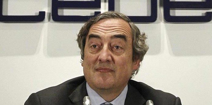 Juan Rosell, reelegido presidente de la CEOE con el 52,2% de los votos