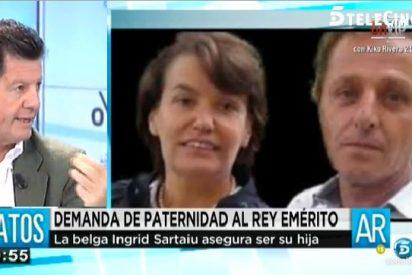 """Alfonso Rojo sobre la que dice ser hija de Don Juan Carlos: """"Tiene más cara que un saco de perras gordas"""""""