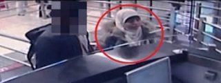 [Vídeo] De esta facha se salta los controles desde Madrid la mujer del asesino yihadista del súper
