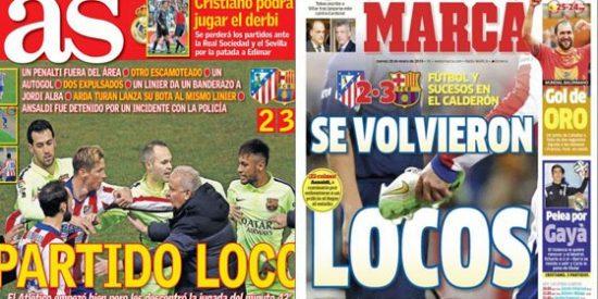 """La prensa apalea al Atleti por su agresividad ante el Barça y Juanma Rodríguez se indigna: """"Me avergüenzo de esta profesión"""""""