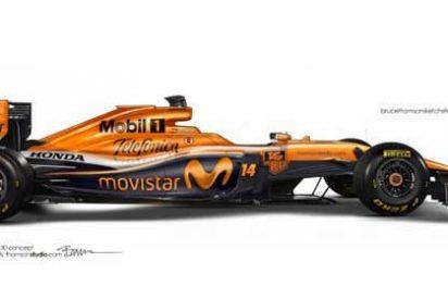Así sería el nuevo color del coche de Fernando Alonso