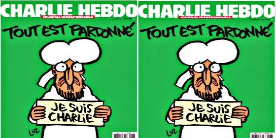 Así llora Mahoma en la nueva portada de 'Charlie Hebdo' una semana después del atentado islamista