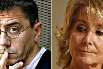 Juan Carlos Monedero, admirador del chavismo y socio de los ayatolás, compara a Esperanza Aguirre con Marine Le Pen