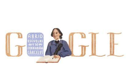 Google hace un doodle con Concepción Arenal
