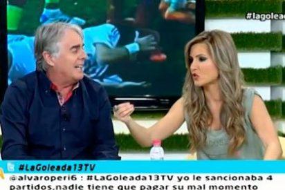 Bronca entre presentadores: Danae Boronat y Siro López, a gorrazos a cuenta de CR7 y Messi