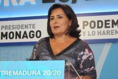 """La portavoz del PP de Extremadura afirma: """"No somos los de Podemos, somos los de hacemos"""""""