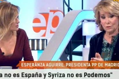 """Aguirre pone en jaque a Griso por apoyar a Podemos: """"Si Antena3 está haciendo esto, ¡qué estará haciendo laSexta!"""""""