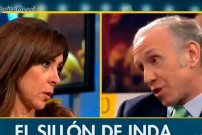 """Eduardo Inda tacha de mentirosa a Carme Barceló: """"Usted dice la verdad solo a veces"""""""