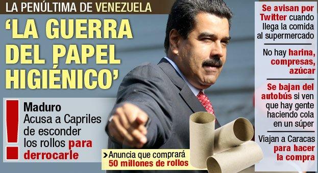 En la Venezuela chavista solo quedan productos básicos para 45 días