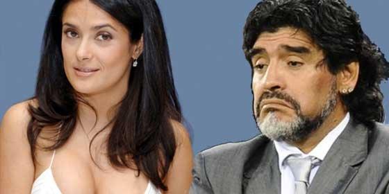 La cagada por la que Maradona no pudo ligarse a Salma Hayek