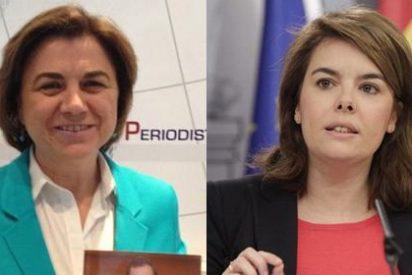 Lucía Méndez masajea a Sáenz de Santamaría el mismo día que El País impulsa su candidatura a Madrid