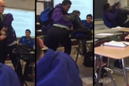 El vídeo del alumno que ataca salvajemente a su profesor de química por haberle quitado el móvil