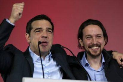 Iglesias se mete en el bolsillo a los griegos de Syriza con su labia