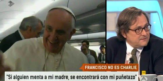 """Marhuenda: """"El Papa hace estas cosas de quedar bien, de 'happy flower', para que vean que es el colega Papa, ¡y no!"""""""