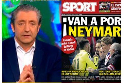 """Pedrerol da la razón al diario 'Sport': """"Firmo la portada, hay una campaña en Madrid contra Neymar"""""""