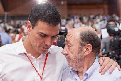 Rubalcaba malmete contra Pedro Sánchez soltando pestes a sus espaldas