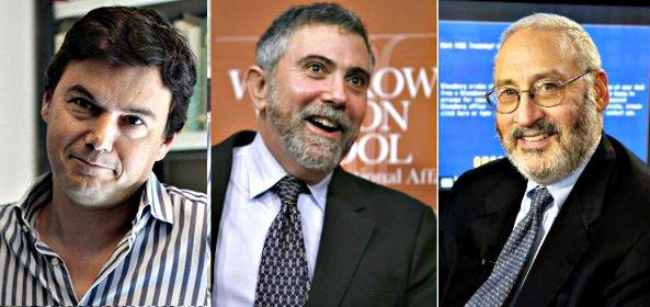 Los grandes gurús de la economía que nos dan consejos son de 'izquierdas' : Piketty, Krugman, Stiglitz...