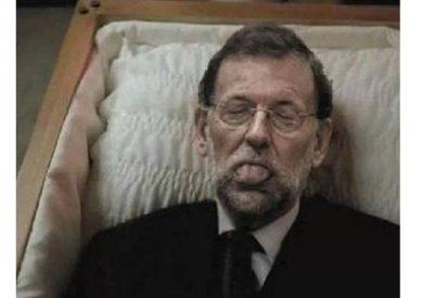 El portavoz del PSOE en Calatayud la lía compartiendo una imagen de Rajoy muerto en Facebook