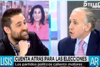 """Inda al Podemos 'disfrazado' por decirle que cada vez que habla les da 100.000 votos: """"Acabas de decir una gran gilipollez"""""""