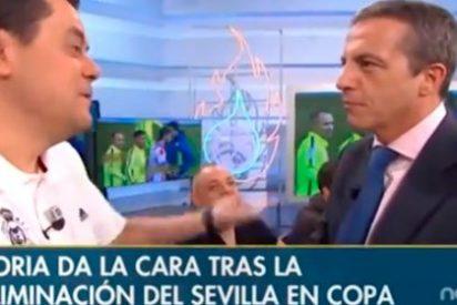"""Cristóbal Soria, tras cachondearse Roncero por la eliminación del Sevilla: """"Ser del Madrid es fácil porque las victorias te llegan por la pela"""""""