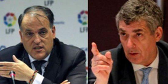 """La Federación y la LFP piden juego limpio pero no predican con el ejemplo: Villar llama """"gilipollas"""" a Tebas"""