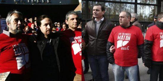 """Del Pozo llama """"demagogos"""" a Pablo Iglesias y Tomás Gómez por disputarse la foto con los enfermos de hepatitis"""