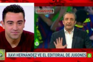 """Xavi Hernández atiza al programa de 'Jugones' de Pedrerol: """"Ese programa no habla de fútbol sino de tonterías"""""""