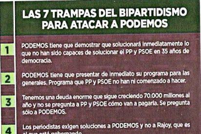Los pillastres de Podemos y su argumentario a la piadosa parroquia de la Puerta del Sol