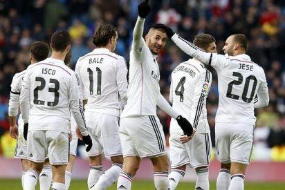 El Real Madrid tiene más balón y remata más a puerta jugando con el 4-4-2