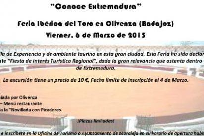 La localidad de Moraleja organiza la excursión; Feria Ibérica del Toro en Olivenza (Badajoz)