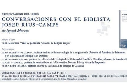 Josep Rius-Camps: teólogo y biblista de la libertad