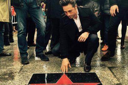 David Bustamante recibe la primera 'estrella de la fama' de Santander