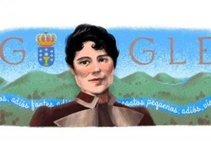 Google dedica su 'doodle' a Rosalía de Castro en el 178º aniversario de su nacimiento