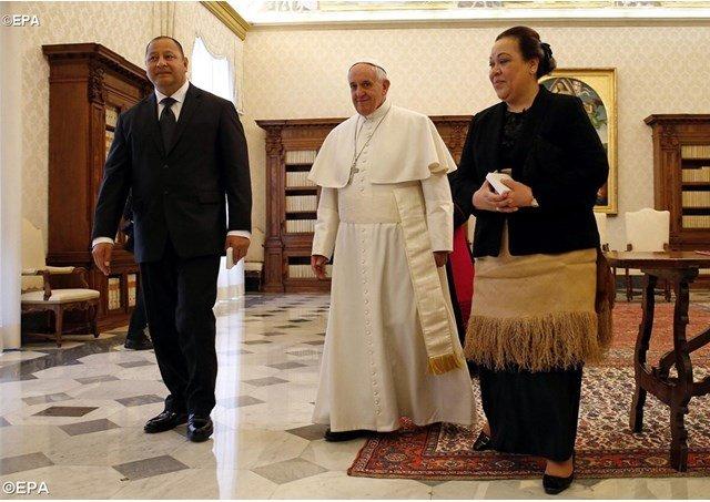 El Papa recibe a los Soberanos de Tonga