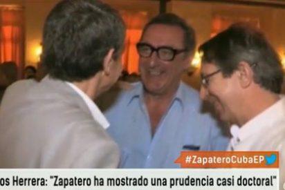 """Carlos Herrera, de risas con ZP en Cuba: """"Su viaje ha sido una forma de darle en toda la cara a Rajoy"""""""