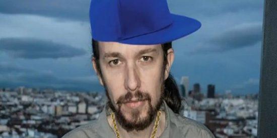 Al 'tic-tac' de Pablo Iglesias le dan más cuerda: ¡a ritmo rap y con cadenaza hortera al cuello!