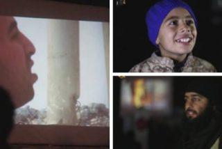 El vídeo del piloto ardiendo en las pantallas gigantes del EI mientras los niños ríen y la turba aplaude a rabiar