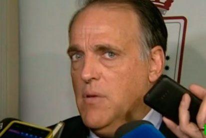 """La última perla de Javier Tebas: """"Si hablo con Bartomeu le diré que no tiene que dimitir"""""""