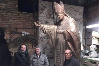 Concluyen la escultura en bronce de San Juan Pablo II para Valencia