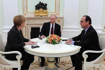 Hollande, Merkel y Putin acuerdan desplegar tropas de paz en Ucrania