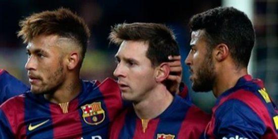 Neymar, Messi y Rafinha salvan los muebles al Barça, que remonta en un suspiro a un gran Villarreal