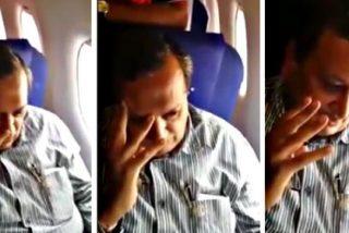 [VÍDEO] Un aplauso para la chica india que da una lección al tipo que trató de meterle mano en un avión
