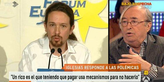"""Oneto cree que Iglesias se puso el disfraz de cordero en T5 para captar votos: """"Hay un cambio radical con el tono en laSexta Noche"""""""