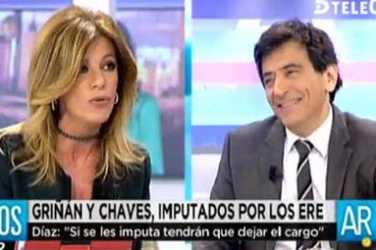 """Espada estalla ante Palomera por defender que Chaves y Griñán no están imputados: """"¡No digas tonterías!"""""""