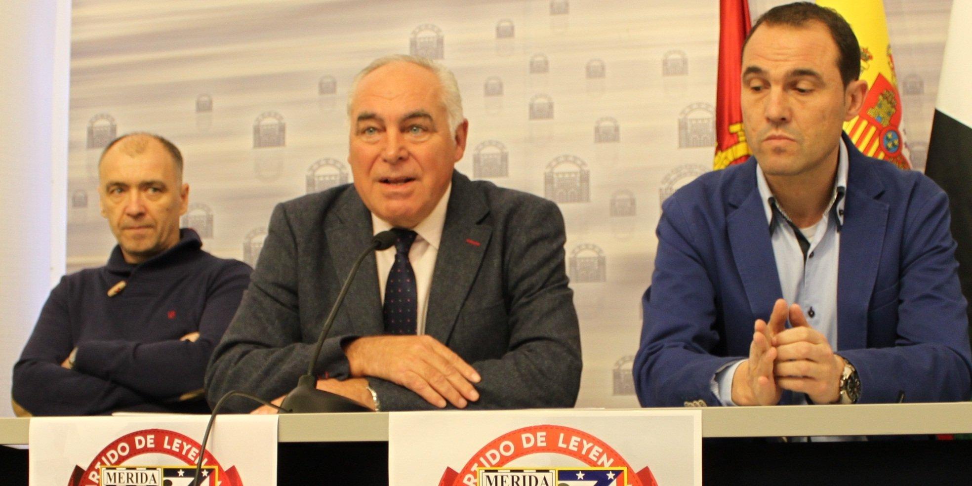 Los veteranos del Mérida y Atlético de Madrid jugarán un partido solidario