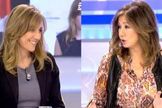 """La broma de Ana Rosa a Tania: """"Tenemos los papeles cambiados, a ti te falta collar de perlas y yo vengo de Podemos"""""""