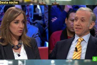 Eduardo Inda 'apalea' a Tania Sanchez en su reencuentro en 'La Sexta Noche'